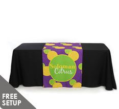 30 inch x 90 inch Full Color Table Runner