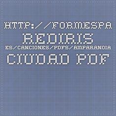 """http://formespa.rediris.es/canciones/pdfs/amparanoia_ciudad.pdf  Actividades para la cancion """"En la ciudad"""" Ampanaoia"""