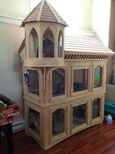 high bunny palace that my dad made - Kaninchen - Bunny Cages, Rabbit Cages, House Rabbit, Pet Rabbit, Rabbit Pen, Ferret Cage, Pet Cage, Chinchilla Cage, Rabbit Hutch Indoor