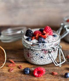 Recette de pouding de Chia vanille et fruits