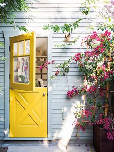 The Pandemic-Inspired Renovations People Actually Followed Through With Exterior Design, Interior And Exterior, Interior Door, Exterior Colors, Yellow Doors, Los Angeles Homes, Mellow Yellow, Bright Yellow, Color Yellow