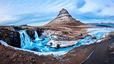 Wasserfall und Berg Massiv in Iceland Kirkjufell Kirkjufellsf … – Landscape Photography Recommendations Iceland Landscape, Island, Landscape Photography, Nature Photography, Land Scape, Canon, Workshop, Mountain, Winter