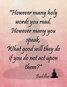 "11"" By 14"" Decorative Art Print ~ Buddhist Inspirational Quote: ""Holy Words....."" (Pink) Dr.Claude's Emporium http://www.amazon.com/dp/B00RD30O80/ref=cm_sw_r_pi_dp_UR.Nub0T5ZGGB"