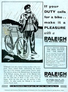 1933 Raleigh Popular All-Weather Gents Bicycle with Watsonian Sidecar Bicycle Sidecars