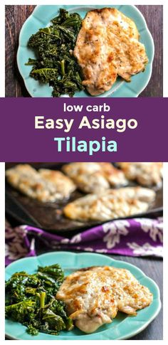 Easy Asiago Tilapia Dish - an easy low carb dinner that takes only 20 minutes!