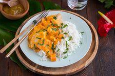 Curry Thaï au Poulet, Courge et Patate douce