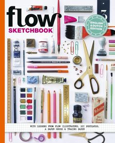 This Sketchbook is filled with step-by-step drawing lessons from Flow illustrators as Deborah van der Schaaf, Kate Pugsley, Katrin Coetzer and Flora Waycott. A pretty plant, your grandmother's teacup and 21 more How-To's that you'll find inside. Additionally, we asked our illustrators for tips and tricks, and what materials they love using most. They also give some mini-masterclasses on drawing pretty borders and making sketches, and the best way to get beautiful sharp colors on your paper.