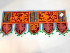 Toran Door Topper Valance Indian Hand Embroidery Hanging Window Decor Wall DX29 #Handmade