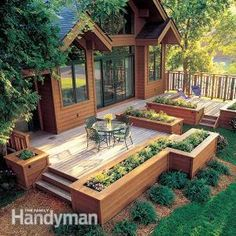A Patio Deck Design will add beauty to your home. Creating a patio deck design is an investment that will […] Backyard Patio, Backyard Landscaping, Landscaping Ideas, Backyard Layout, Deck Layout Ideas, Simple Deck Ideas, Backyard Deck Designs, Back Deck Ideas, Small Deck Designs