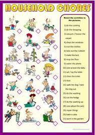 Znalezione obrazy dla zapytania household chores exercises pdf