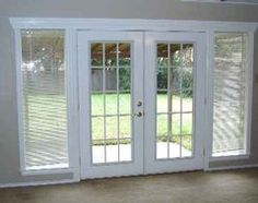 french doors side lights - Google Search & Outward opening french doors with retractable screens. | Home ...