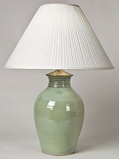 Soft Green Stoneware Lamp