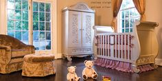 sleigh crib in antique finish...my fave of their cribs ~Bratt Decor ; b