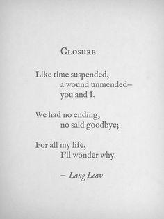Closure by Lang Leav