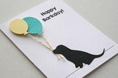 Dog Birthday Card  Labrador puppy card happy by JillyBearDesigns, $4.00