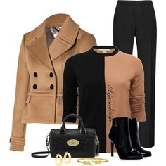 """Burberry Jacket"" by arjanadesign on Polyvore"