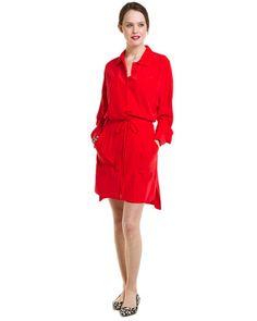 "DVF ""Rosetta"" Cherry Silk Wrap Dress"