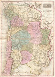 Mapa de La Plata (y sus países adyacentes) de Pinkerton.