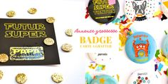 Super annonce grossesse Badge, Pregnancy, Daughter, Children, Pregnancy Planning Resources, Badges, Conceiving