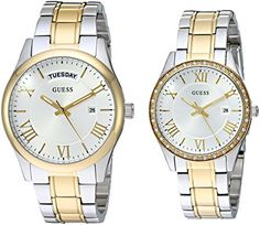 GUESS His and Her Matching Watches Set are an elegant couples gift.  Perfect for a wedding, Christmas or anniversary gift for any couple.