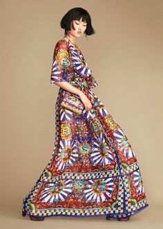 Dolce & Gabbana Summer 2016 Fashion Clothes inside the 'Sicilian Carretto' Women Collection.