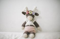 Crochet Reindeer @ crochetlatte - with link to free pattern and notes on amendments