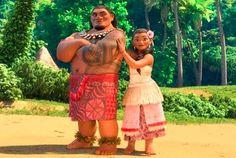 Moana princesa Disney, pai e mãe da princesa