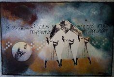 VOULEZ, mixedmedia, paneel, 120x80 cm, Jaap Reedijk