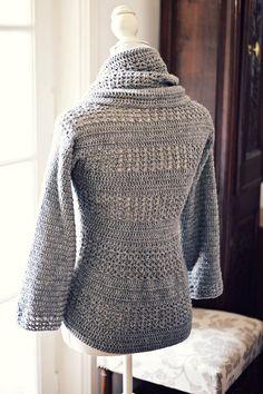 Chain: Crochet cardigan PATTERN (pdf file) - Ladies' Shrug - Cardigan - Topslovely