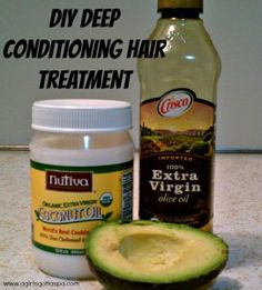 DIY Deep Conditioning Hair Mask #recipe #haircare