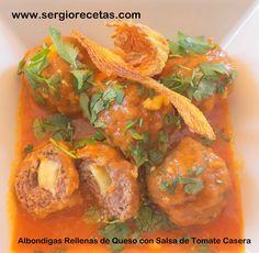 Sergio Benito Recetas: Albondigas Rellenas de Queso con Salsa de Tomate Casera-Paso a Paso Detallado para una Receta de 10