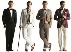 The great gatsby outfits. For the groom and the male guests. Great Gatsby Party Outfit, Gatsby Themed Party, Gatsby Wedding, The Great Gatsby, Mens Gatsby Outfit, Gatsby Outfits For Men, Great Gatsby Costumes Mens, Gatsby Dress Men, Great Gatsby Clothing