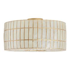 Marquee Lights -Artisans in the Philippines hand-cut naturally harvested capiz shells and trim them in gold to create the luminous drum shade of our flush-mount ceiling light. Diffusing light beautifully, iridescent capiz illuminates with a warm, lustrous glow, making this exclusive ceiling lamp perfect for placing in multiples. Material: Capiz Shell, Color:Natural. Also could be used for seashell lamp,shell lamp,gold light,ceiling lamp,ceiling decor,school lamp,home decor,decor,ceiling light,li Ceiling Decor, Ceiling Lamp, Ceiling Lights, Flush Mount Ceiling, Flush Mount Lighting, Battery Operated String Lights, Novelty Lighting, Marquee Lights, Diffused Light