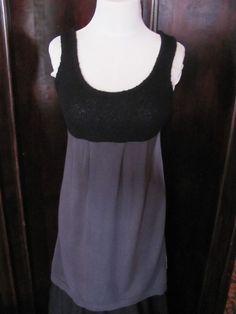 Susina Black Gray Knit Wool Blend Dress Juniors Medium #Susina #Sheath #Casual
