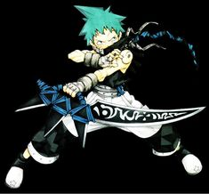 Black Star - Soul Eater I've never even seen that weapon!!!