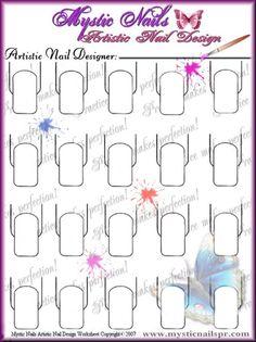 nail art practice sheet Drip Nails, Gel Acrylic Nails, Uv Nails, Colorful Nail Designs, Cute Nail Designs, Trendy Nail Art, Cool Nail Art, Nail Tech School, Mystic Nails