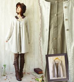 Rakuten: Shirt-dress of the good quality linen cotton which was particular about the * material that the lei yard of the dot pattern to show in the forest girl shirt dress dot inside in one piece summer was lovely mature- Shopping Japanese products from Japan