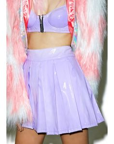 24HRS X Dolls Kill Princess Pastel Vinyl Skirt   Dolls Kill