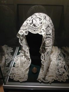 Grand Duchess Olga Alexandrovna Romanova of Russia's wedding veil at the Grand Duchess Olga Alexandrovna Romanova of Russia Exhibition at the Ballerup Museum in Denmark.A♥W