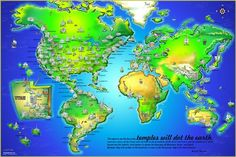 Wow, I want this -  LDS Temple Poster - Temples Dot the Earth    #LDSproducts #MormonProducts #CTR