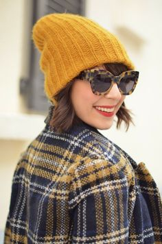 http://www.helloitsvalentine.fr/2013/11/bright-as-yellow.html - Bright As Yellow & tartan coat