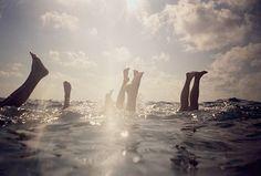 Handstands under water