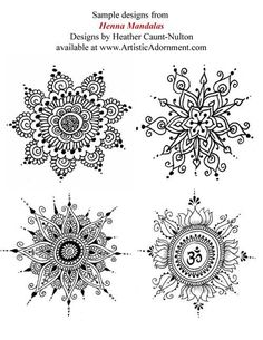 Henna Mandalas ebook - Mehndi pattern book with over 75 henna designs http://picturesfunnys.blogspot.com/
