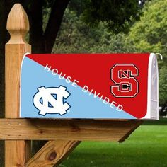 University of North Carolina at Chapel Hill Tarheels - magnetic mailbox cover - House Divided - UNC & NC State.