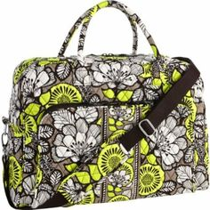 Vera Bradley Citron Pattern! Oh how we love the Grand Traveler!  $120. www.touchegifts.com