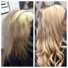 Cezanne Smoothing Treatment, Foils with Olaplex and Babe Tape-extensions. Quite a transformation!! #olaplex #behindthechair #modernsalon #imaginesalonspa #beforeandafter #prettyhair #cezanne