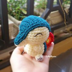 FREE SHIPPING Chibi Cyndaquil Made-to-order Crochet by NVkatherine