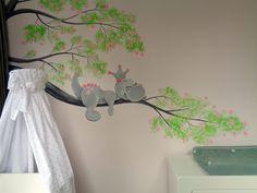 draakje babykamer muurschildering