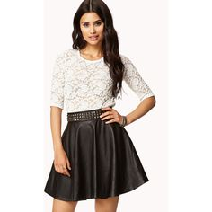 FOREVER 21 Bow Back Lace Top and other apparel, accessories and trends. Browse and shop 1 related looks.