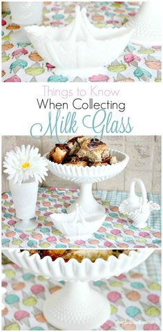 What to know when buying milk glass. A Farmhouse Hens bloghop all about milk glass. #faeriesandfauna #milkglass #vintageglass #farmhousehens
